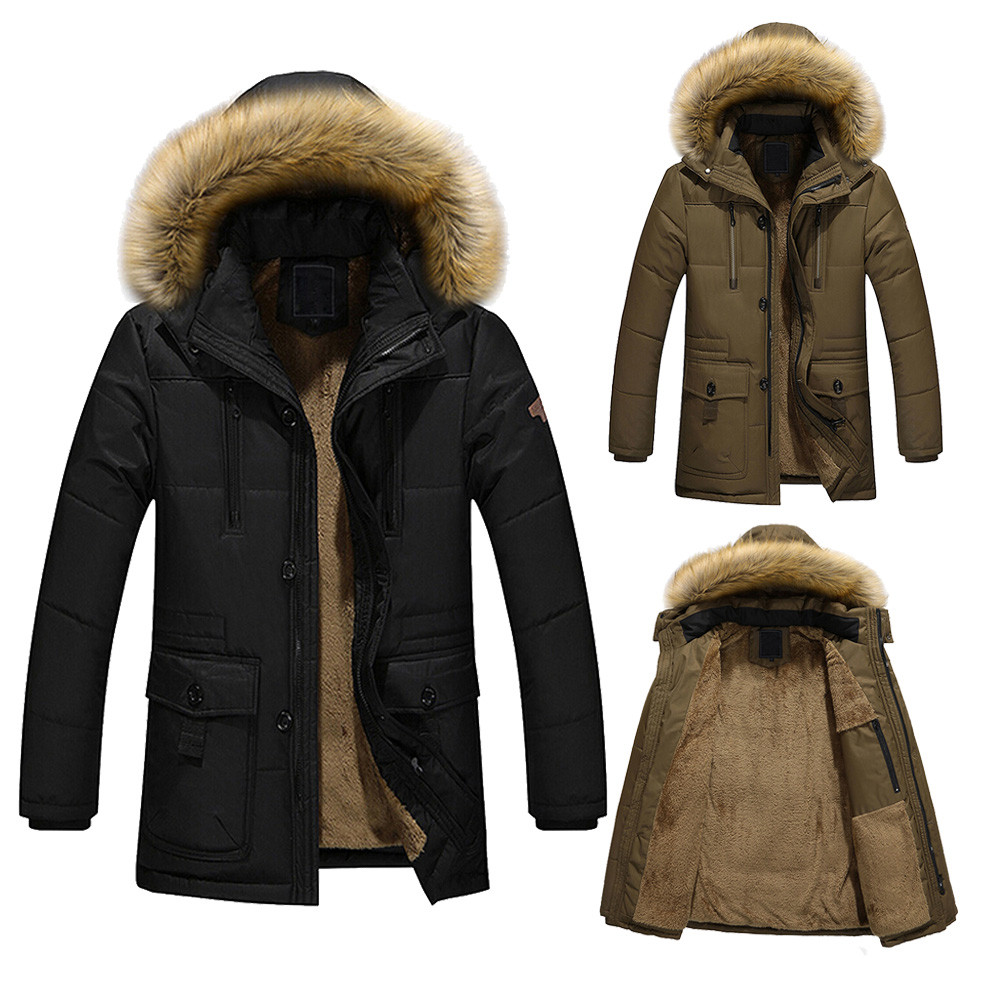 ФОТО 2017 Winter Mens Down Jacket Fur Hood With Cashmere Plus Size 5XL Winter Thick Warm Jacket Parka High Quality Fashion Men's Coat