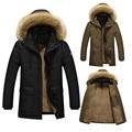 2017 Winter Mens Down Jacket Fur Hood With Cashmere Plus Size 5XL Winter Thick Warm Jacket Parka High Quality Fashion Men's Coat