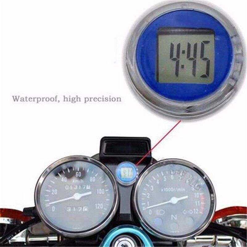 Летом езда часы на мотоцикле Тахометр установлен автомобиль часы Водонепроницаемый временной код подсказки удобный цифровой часы