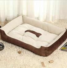 Free shipping Large Dog Bed Kennel Mat Soft Fleece Pet Dog Puppy Warm Bed House Plush Cozy Nest Dog House Pad warm pet house