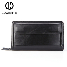 Men wallets with coin pocket long zipper coin purse for men clutch business Male Wallet  Vintage Large Wallet Purse PJ022 недорого