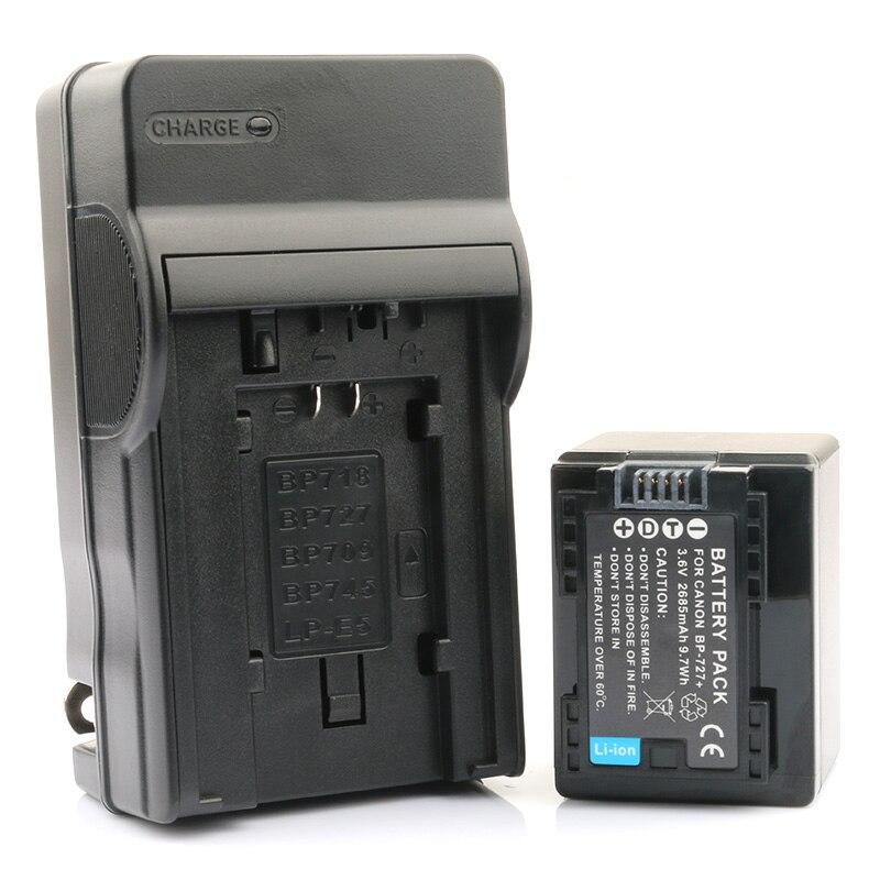 Nuevo Chip Batería Cargador para Canon Ixia HF M56 HF R306 LEGRIA R36 BP-718 Ixia