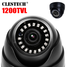 цена на New Laser nano Real 1200TVL HD CCTV CAMERA Array LED Indoor Dome IR-Cut Analog Security Surveillance Night Vision Video vidicon