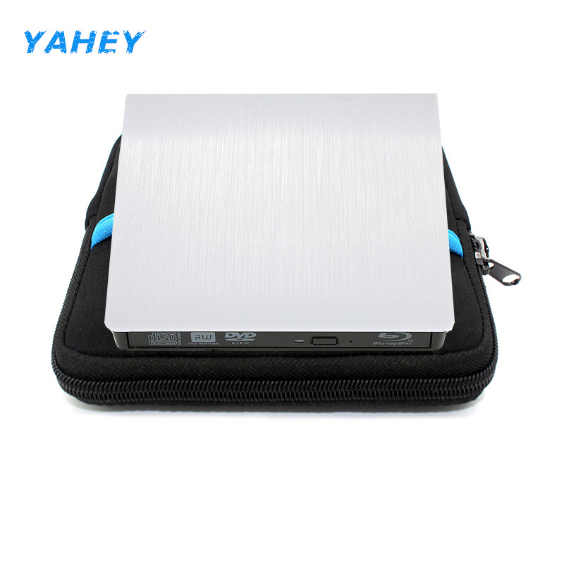 USB 3.0 Blu-ray BD-ROM Drive Player External CD/DVD RW Burner Writer Recorder Portable for Laptop imacbook+Drive case pouch bag [ship from local warehouse] blu ray combo drive usb 3 0 external dvd burner bd rom dvd rw writer player for laptop apple mac pro