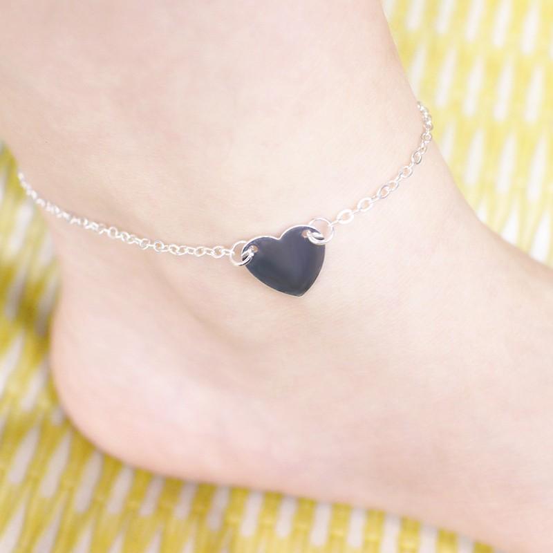HTB1WYWqKFXXXXX4XVXXq6xXFXXXB Charming Foot Chain 2-Pieces Gold And Silver Heart Ankle Jewelry Bracelets For Women