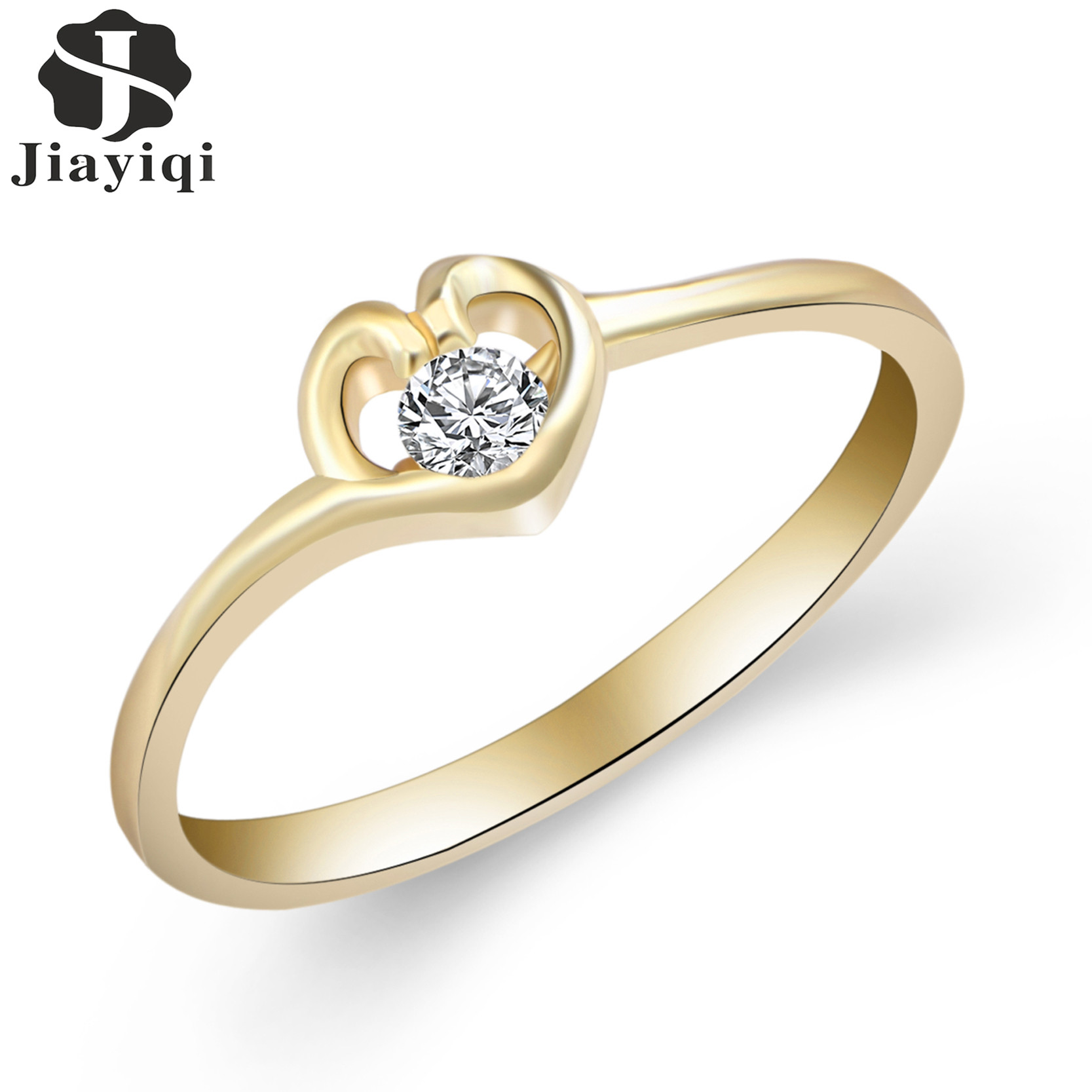 2017 New Style White Gold Color Rings For Women Cubic