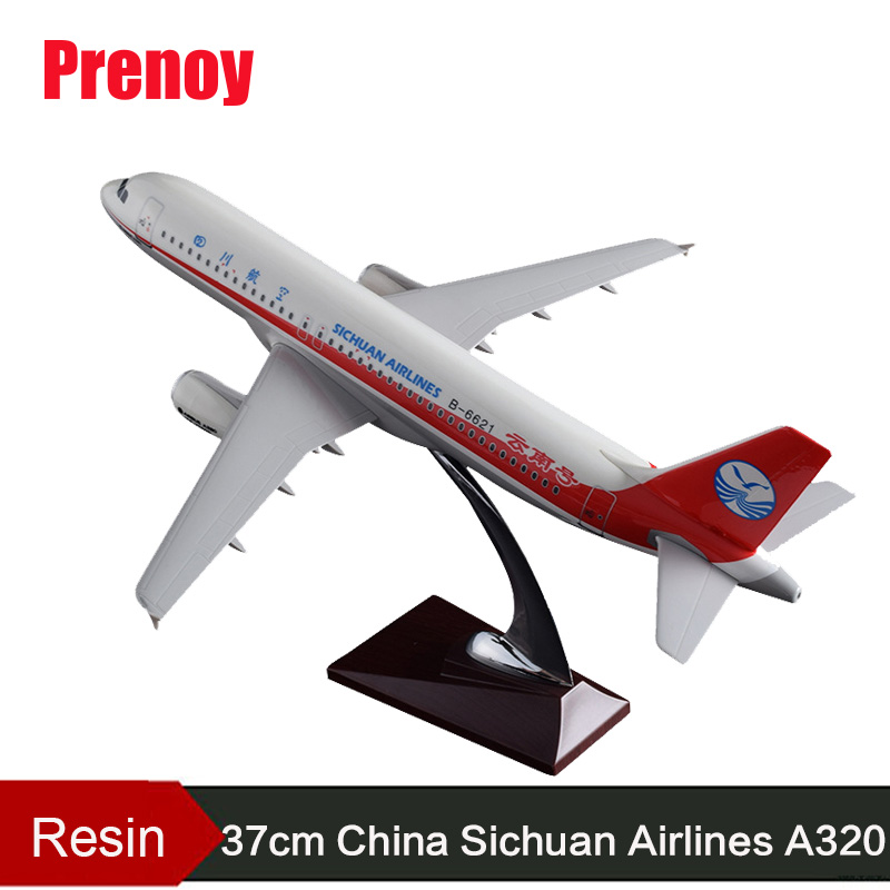 37cm A320 China Sichuan Air Airbus Aircraft Model Resin Sichuan Airlines Yunnan Airplane Plane Model Chinese Aviation Crafts Toy phoenix 10948 china southern airlines b 2134 1 400 md 82 commercial jetliners plane model hobby
