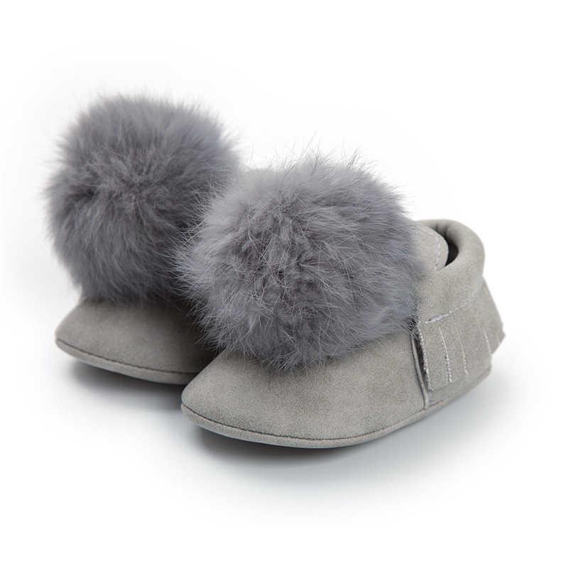 תינוק מוקסין עריסה נעלי סתיו חורף תינוק בנות רך כותנה חם מקרית שלג מגפי שרוכי Cribe נעליים 0-18 m