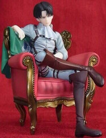 Attack On Titan Pulchra Levi Ackerman Sitting Style 14CM PVC Action Figure Toy Collection Model Gift