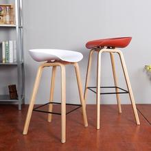 Скандинавская цельная древесина барный стул для дома, бара барный стул пластиковый крючок спереди стол стул для кассира