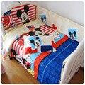 Envío de la Nueva ropa de cama cuna 7 unids bebé juego de Cama incluye funda de almohada + hoja de cama edredón cubierta sin relleno