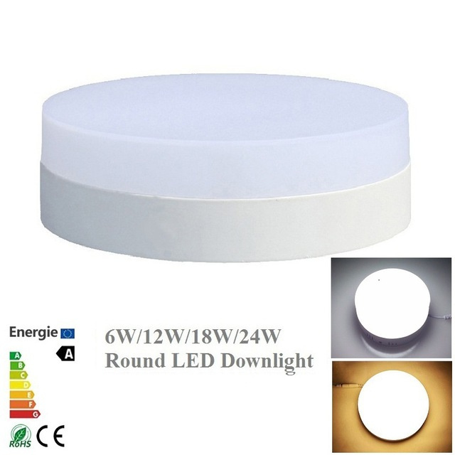 Led Panel Surface Mounted Downlight Led 24W Led Modern Round Ceiling Panel Lights Square Panel Light Fixture For Living Room led panel light 6w surface mounted led ceiling lights ac 85 265v square led downlight