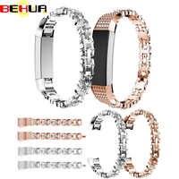 Correa de reloj de Alta calidad con correa de reloj de acero inoxidable con diamantes de imitación para Fitbit Alta HR