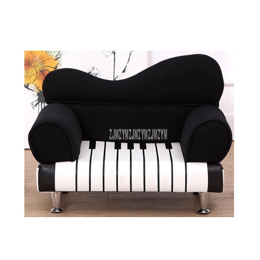 Creative Cartoon Piano Design Single Person Children Sofa Chair PU Leather Cute Baby Kids Sofa Play Toy Dollhouse Furniture