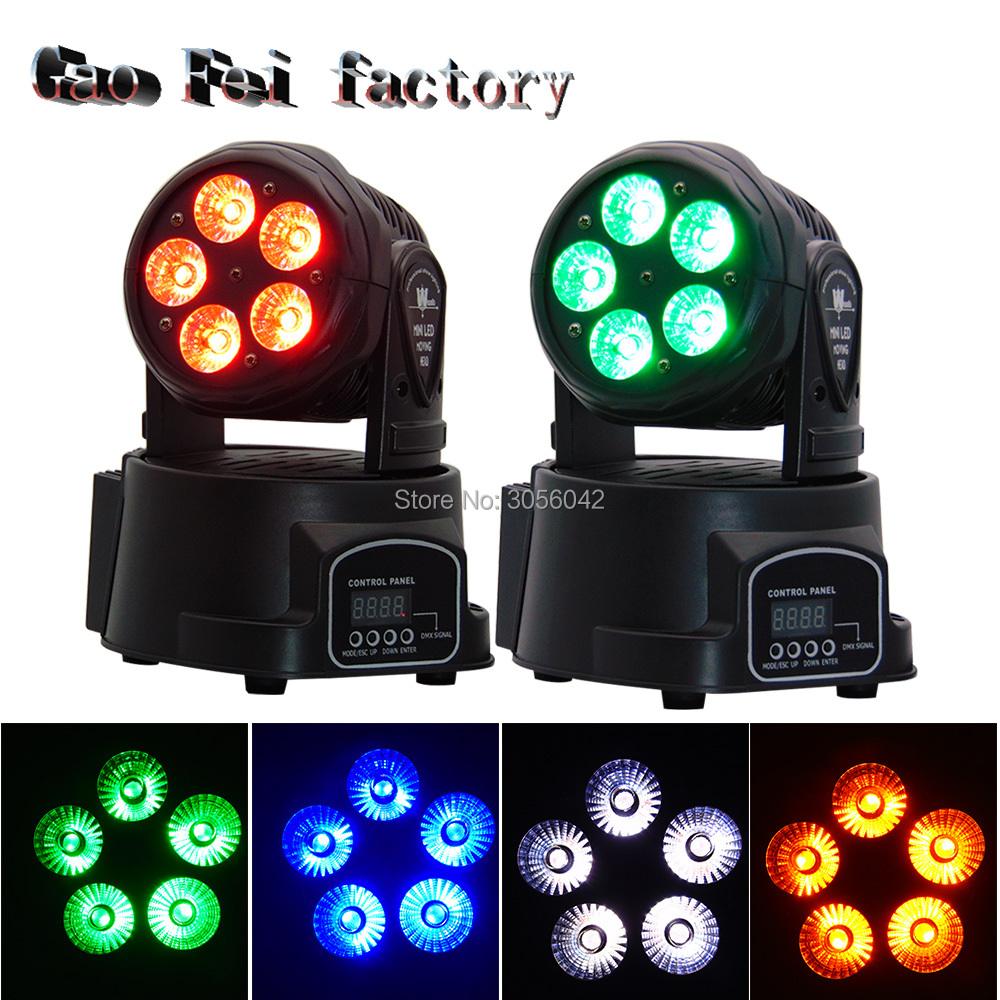 Led Moving Head DMX Wash 5x15w Mini Music Sound Light Stage Christmas Party Show Disco Dj Dmx Rgbw Light 8 units led moving head dmx wash 18x3w mini music sound light stage christmas party lumiere laser show disco dj dmx rgb light