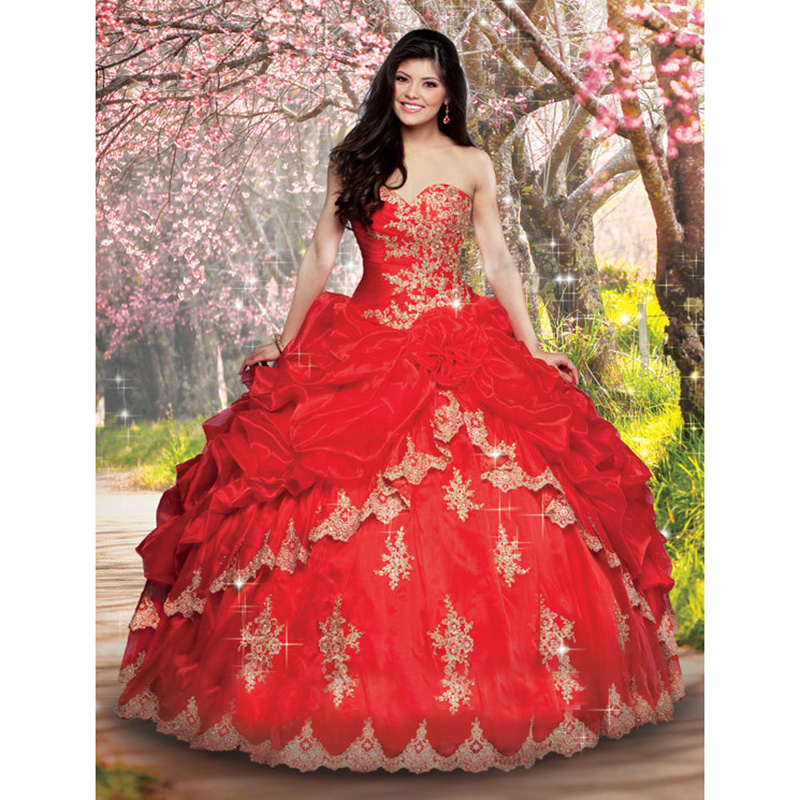 Popular Red Quinceanera Dress-Buy Cheap Red Quinceanera Dress lots ...
