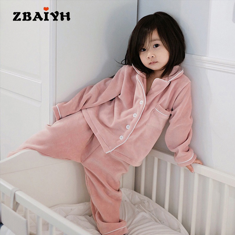 New Unisex Pajama infantil Sets Winter Warm Flannel Sleepwear boy Baby Girl Pajamas kids Bathrobe Homewear 2 Piece For 2-6 Age maternity pajama hot robes autumn winter pregnant woman unisex home coral fleece pajama comfortable solid pockets women bathrobe