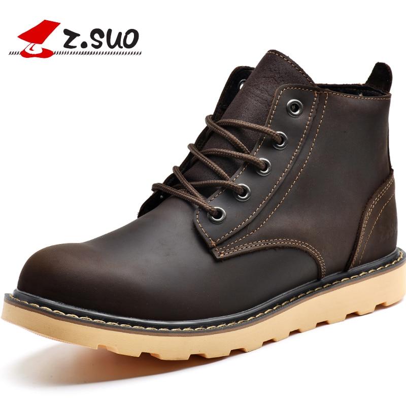 Qualidade Boots Marca Deep De Homens Botas Homem Couro Vaca Hombre Marrom Suo Genuíno brown Nova Ankle Casuais Brown Alta Dos 2017 Z Moda 7S4waxq5