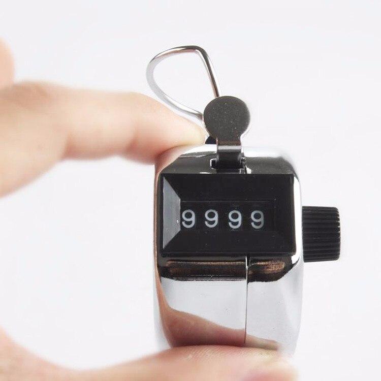 <+>  счетчик рук Портативный Handy 4-значный металлический номер Tally Счетчик для гольфа Счетчик кругов  ①