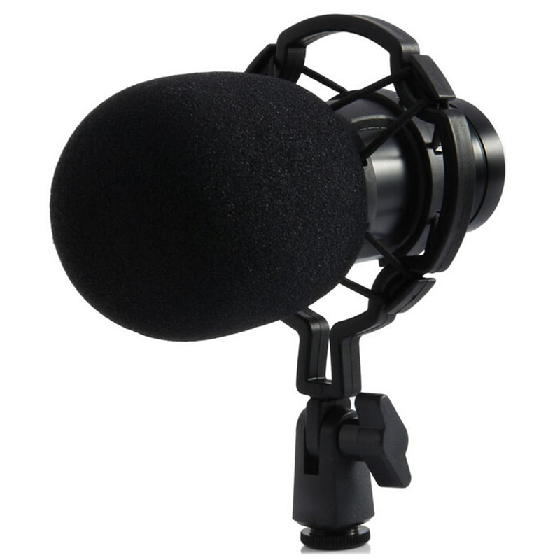 Hot Sale Black BM - 800 Dynamic Condenser Wired Microphone Mic Sound Studio for Recording Kit KTV Karaoke with Shock Mount  3 5mm jack audio condenser microphone mic studio sound recording wired microfone with stand for radio braodcasting singing