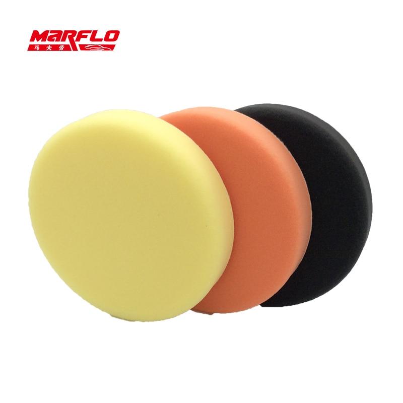 Marflo 150mm Polishing Sponge Pad Buff Polishing Pad For Car Polisher Dual Action Pad Sponge Fine Medium Heavy Cutting Power