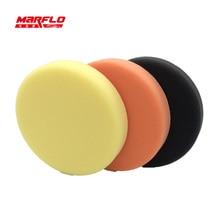 Marflo 150mm Polishing Sponge Pad Buff For Car Polisher Dual Action Fine Medium Heavy Cutting Power