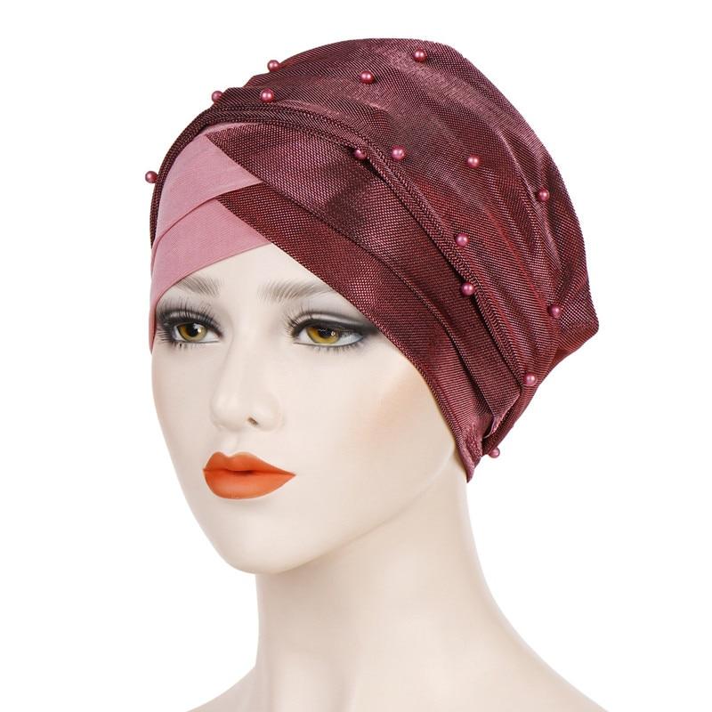 Muslimische Frauen Hijab Schal Chemo Hat Haarausfall Kopftuch Turban Wrap