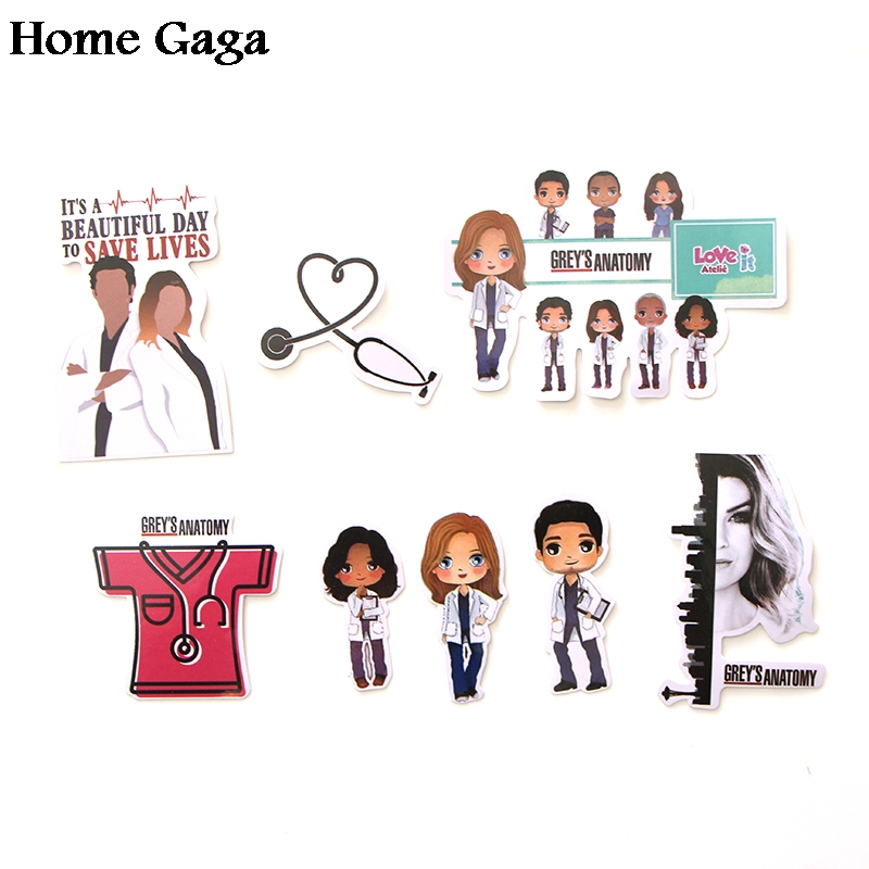 Homegaga 23pcs Grey 39 s Anatomy doctors scrapbooking decals Creative badges DIY decorative stickers vintage notebook phone D1718 in Stickers from Home amp Garden