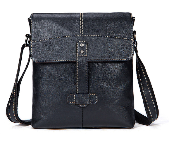 2018 new Genuine Leather men's bag casual men's Messenger bag the first layer of cow leather Messenger bag vertical shoulder bag famous brands first layer of leather woman bag autumn and winter fashion shoulder bag casual mobile messenger bag