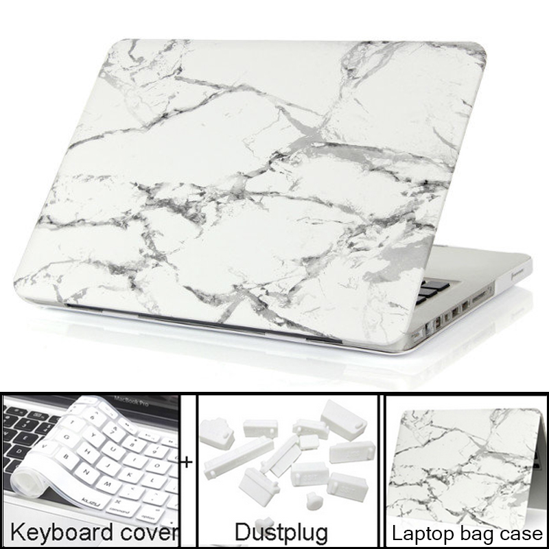 Marble Texture Case For Apple Macbook Air Pro Retina 11 12 13 15 laptop bag case For Macbook Air 13 case Pro 13 Retina13 15 case 2017 newest hot sleeve case bag for macbook laptop air 11 12 13 pro retina 13 3 protecter wholesales drop free shipping