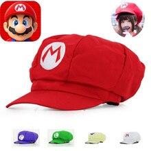 2019 Anime dibujos animados Super Mario Cosplay accesorios sombreros  mujeres hombres Luigi Bros algodón cúpula gorra niños niñas. f65fe102971