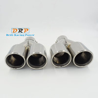 Best Selling The Pair Of 1 To 2 Dual Pipe Stainless Steel Modified Car Rear Tail