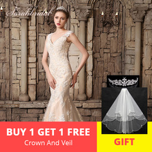 sarahbridal Charming Wedding Dress 2019 Spring V-neck