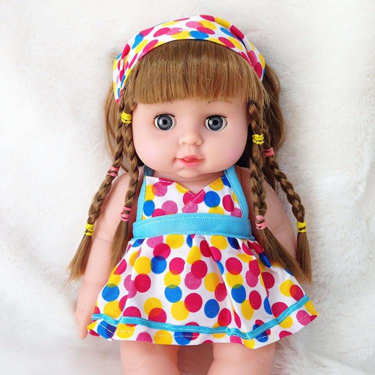 30 centímetros Bebê Recém-nascido Boneca Macio Recheado Bonecos de Simulação Boneca Lifelike Bebês Brinquedos Educativos para Crianças Presente de Aniversário
