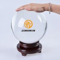 LongWin 200 мм декоративные хрустальный шар глядя сфере показать камень Venue декор с деревянной основе