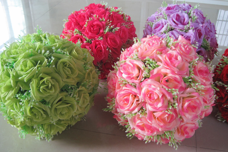 4040 40cm Silk Flower Wedding Kissing Balls Pomander Decorative Amazing Hanging Flower Ball Decorations