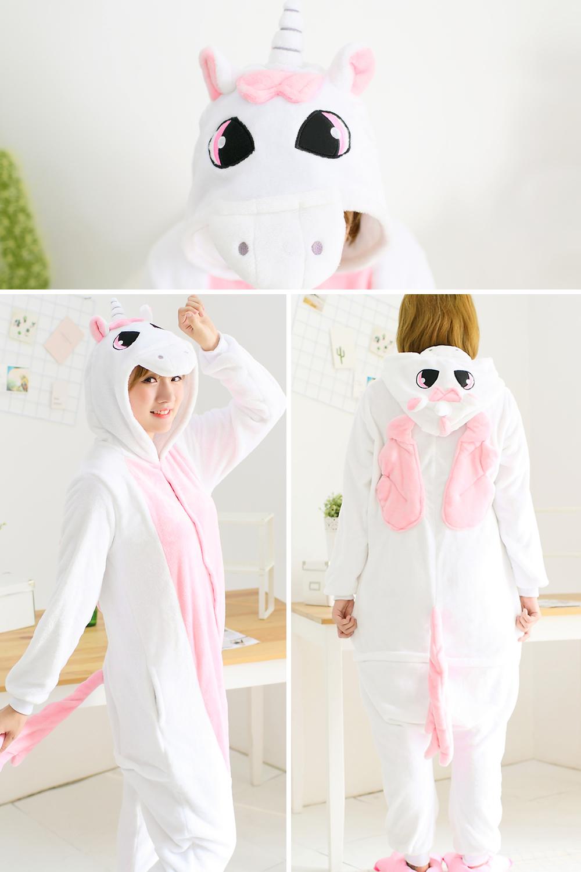 HTB1WYZORFXXXXaIapXXq6xXFXXXc - Pink Unicorn Pajamas Sets Flannel Pajamas Winter Nightie Stitch Pyjamas for Women Adults