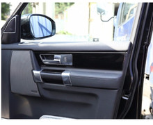 цена на For Land Rover LR4 Discovery 4 2010-2016 Inner Car Door Handle Panel Cover ABS Chrome Sticker Car Accessories 4pcs
