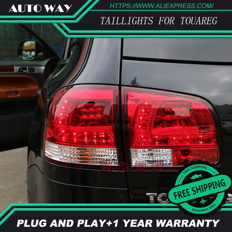 Car Styling tail lights for VW Touareg 2010-2010 taillights LED Tail Lamp rear trunk lamp cover drl+signal+brake+reverse cafoucs car front bumper fog light for toyota land cruiser prado fj90 1996 1997 1998 1999 2000 2001 2002