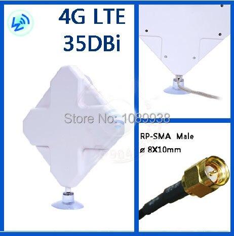 4 г Антенна 2 * SMA разъем для Huawei ZTE 4 г маршрутизатор/модем антенны 35db Бесплатна ...