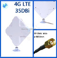 4g antena 2 * conector sma para huawei zte 4g router/módem antena 35db envío gratis