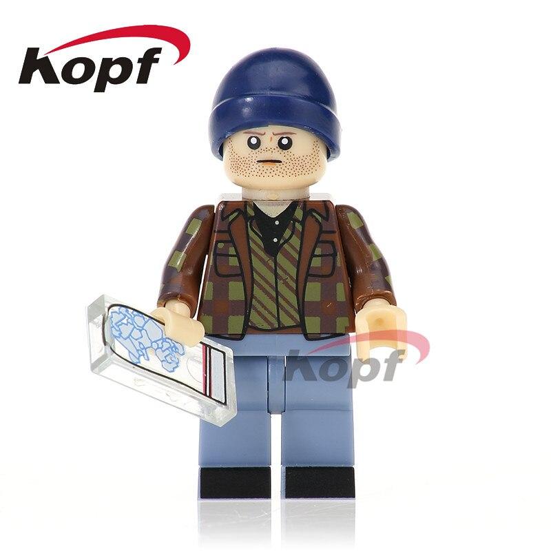 Single Sale Super Heroes Breaking Bad Jesse Pinkman Brown Suit Hank Schrader Building Blocks Education Toys For Children KL059