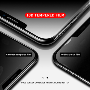 Image 3 - 200 Chiếc 10D Full Keo Dán Kính Cường Lực Phủ Màn Hình 0.3 Mm Bảo Vệ Bảo Vệ Cho iPhone 11 Pro XS XR