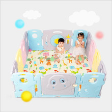 цена Indoor Baby Playpens Totally Safety Children Play Fence Kids Activity Gear Outdoor Games Fence Environmental Protection онлайн в 2017 году