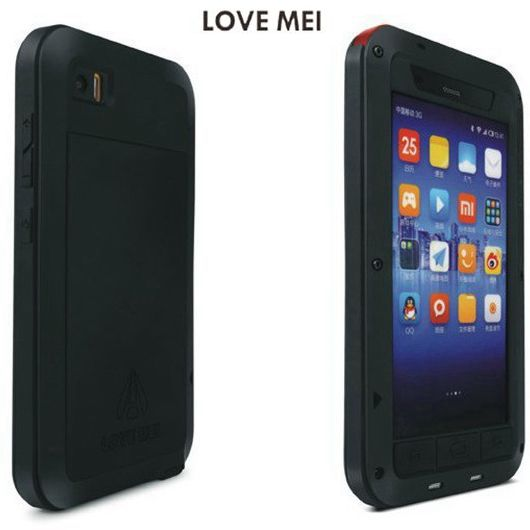 Cas Capa Pour Xiaomi 3 M3 Mi3 Origine Amour Mei Puissant Antichoc Étanche Couvercle En Aluminium Coque Pour Xiao Mi 3
