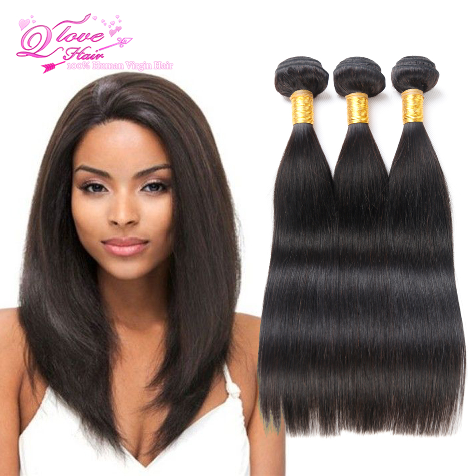 Good Cheap Unprocess 7a Malaysian Virgin Hair Straight 3pc Queens