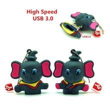 High SpeedUSB 3.0 Elephant Pendrive 64GB Flash Drive USB Flash Drive Pen Stick Memory U Disk 8GB 16GB 32GB External Storage