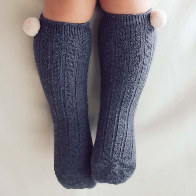 de47d45415a Baby Socks Non-Skid Toddler Boy Girl Knee High Socks ball Kids Boots Sock  Princess Girl Dance Cotoon Socks infant newborn Meias