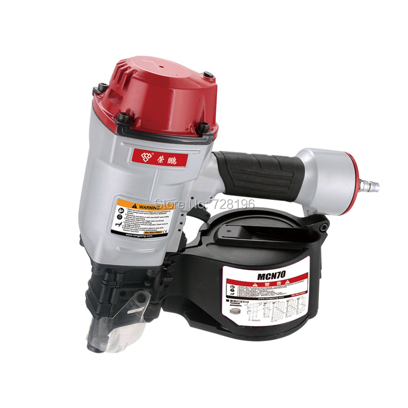 Quality CN70 Pneumatic Coil Roofing Nailer Air Nailing Gun Coil Nailer Air Nailer Tool high quality cn55 industrial pneumatic coil nailer roofing air nail gun tool