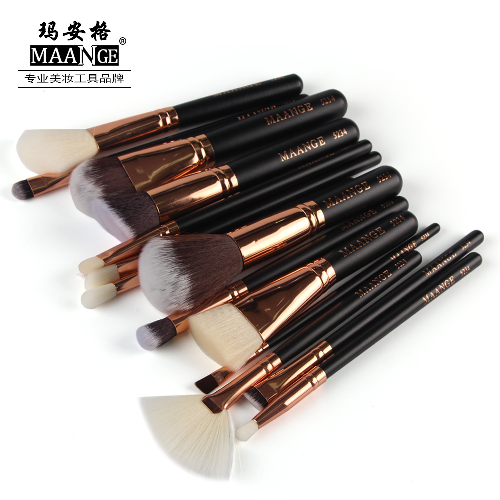 MAANGE 8/15 Pcs Makeup Brushes Set Foundation Eyeshadow Blush Powder Liquid Concealer Contour Blending Beauty Cosmetic Brush Kit tangle teezer расческа для волос salon elite yellow